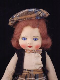 Chad Valley Cloth doll - Glass Eyes