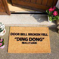 Artsy Doormats Yell Ding Dong Door Mat