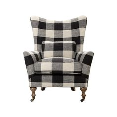 """Rio 35"""" Upholstered Chair in Check Please Thunder"""