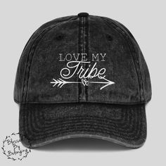 Love My Tribe- Distressed Trucker Hat Women- Mom Hat- Baseball Hat Women-  Cute Mom Hat- Gift for Her- Mothers Day- Mom Gift- Cute Mom Hat a3a23fa4a823