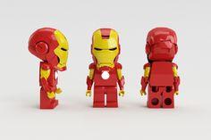 LEGO IRON MAN by Claudio Bellosta, via Behance