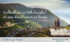 Gaelic Postcard - Breathtaking! Let's start planning our trip. Cabot Trail, Nova Scotia