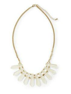 Hive & Honey Clear Spikes Necklace from Piperlime