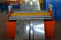 #Slitting #line called slitting, slitting machine, cutting machine, scissors, mainly for tinplate, galvanized iron, silicon steel, cold-rolled strip steel, stainless steel, aluminum, steel and other reel slitting shear. Metallic material  cut into a desired volume of various widths of strip, then the strip have small volume for next procedure, transformer, motor industry and other precision metal strip shear necessary equipment.