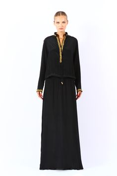 A black silk dress from the ready to wear collection on hang2dry.com