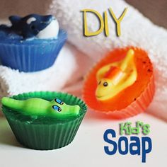 Soap Making for Kids: DIY Sea Creature Soap Craft - any small themed toy... Great to make as a favor