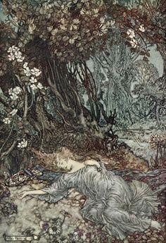 Sueño de una noche de verano (Arthur Rackham)