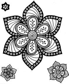 Desenho do Dia #47 - Floral - Soraia Casal