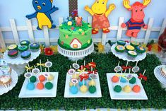 Gabriel and Belle Celebrations: Backyardigan Theme Birthday {Dessert Table}
