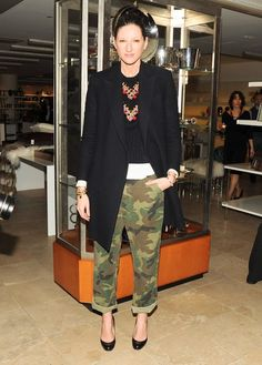 Jenna Lyons loves her camo (and we love the oversized, rolled fit)