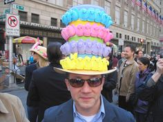 This New York City Easter Parade hat adorned with peeps looks so good we could eat it