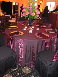Round Satin Tablecloth / Overlay Purple At LinenTablecloth.com | LINENS  Purple, Lavender, Fuchsia | Pinterest | Round Tablecloth, Dream Wedding And  Wedu2026