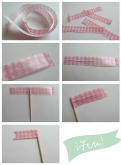 DIY - Paso a paso para hacer banderitas para decorar tortas