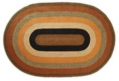 """Harvest Time Jute Rug Oval 72x108"""" by Victorian Heart. $239.95. High end quality and workmanship!. See Product Description below for colors and details. Extensive line of matching items and accessories available! (Search by Collection name). Product measurements and additional details listed in title and/or Product Description below.. All cloth items in our collections are 100% preshrunk cotton. All braided items (like rugs, baskets, etc.) are 100% jute. Constructed of braide..."""