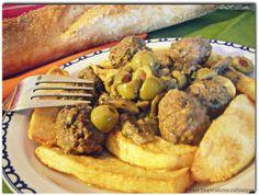 Tajine zitoune (olives ), Kefta et pommes de terre