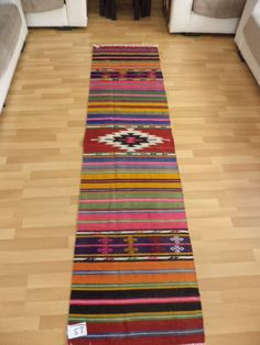 "Vintage Turkish Kilim Runner,Handwoven Vintage Naturel Wool Anatolian Kilim Rug Carpet, Decorative Rug 2,""x8,"" feet (61x240 cm)"