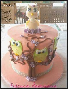 Owl mummy cake #BakedWithLove by Federica Santimaria