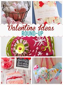Valentine ideas round-up, fabric hearts, heart garland, red hots shortbread, the style sisters