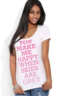 Deb Shops #Neon Speckled Tee with You Make Me Happy Screen