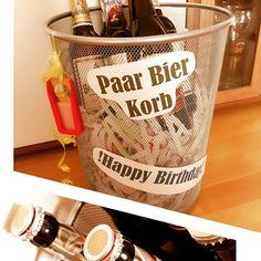 Paar Bier Korb Geschenk Bier Geburtstag Mnner