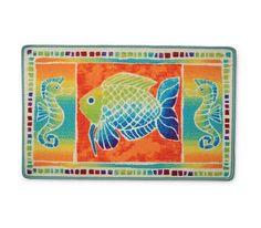Tropical Fish Fantasy Bathroom Rug   XFISHF014T | MonsterMarketplace.com