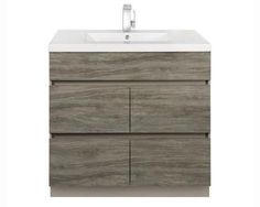 "Boardwalk Collection BW SW36 36"" Single Sink Handless Vanity with 4 Soft Close Drawers and Wood Grain Detailing in Southwester"