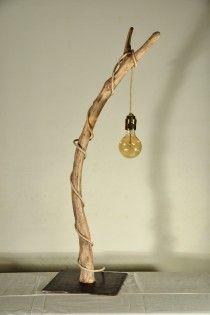 edison gran handmade driftwood lamp natural design