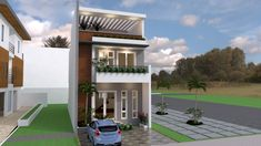 House Plans with 5 Bedrooms - Sam House Plans 2 Storey House Design, Small House Design, Modern House Design, Small Modern House Plans, Small House Living, House Layout Plans, House Layouts, 5 Bedroom House Plans, Architectural House Plans