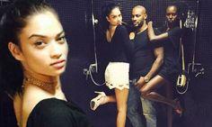 Shanina Shaik and Ajak Deng wrap long limbs around Tyson Beckford