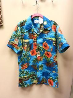 Men's Hawaiian Shirt Tropical Print Size by littlebrooklynstpete, $22.00