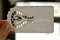 Diana Eng's futuristic fashion --> paper cut business card