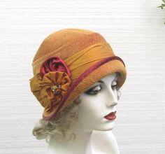 Women's Designer Fabric 1920's Cloche Hat
