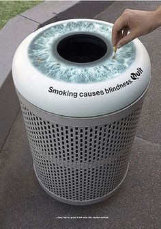 trashcans on the streets warn smokers best creative anti smoking ad campaigns