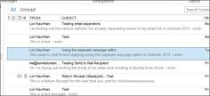 How to Create a Clearer Separation Between Each Email in Your Message List in Outlook 2013 -  If you have a long list of emails and you're having difficulty distinguishing among the individual emails in your list, you can select a grid line style to display between each of the emails. This can improve the visibility of each email in your list. | HTG