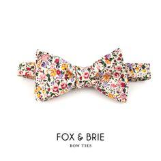 Fox & Brie — Blush Floral Bow Tie