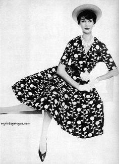 vintage vogue 1950s board 6 pinterest shirtwaist dress black 1950 Style Skateboarding myvintagevogue charm magazine march 1959 simone d aillencourt
