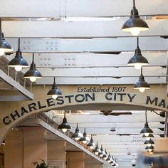 "ANP Lighting provides ""BB16"" Bistro wall mounted RLM fixtures for Charleston City Market in Charleston, South Carolina!"