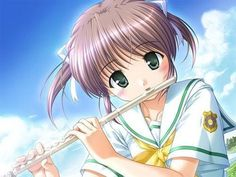 Flute Player Photo by Anime Music, Anime Art, Manga Girl, Anime Girls, Music Education, Sea Creatures, Kawaii Anime, Cute Animals, Cartoon