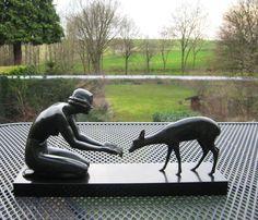 Online veilinghuis Catawiki: Luc - bronzen Art Deco sculptuur