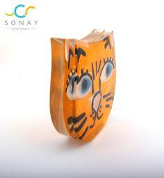 Pisiler  Kedi severlere gelsin cat fusion glass art, glass cat , yellow , decoration