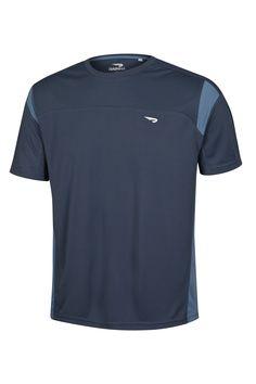 RAINHA T-SHIRT LENK M - Camiseta de malha leve, gola em ribana, manda reta, recortes laterais em cores contrastantes, e recortes na manga, logotipo em relevo.