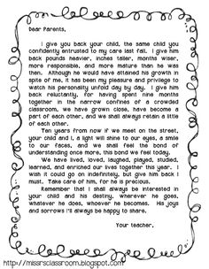 End Of The Year Letter To Parents  Canu0027t Wait To Send This Home With A  Class Photo Monday
