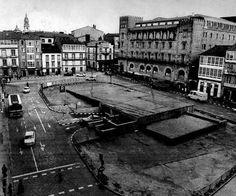 Plaza de Galicia en construcción.