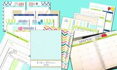 2014-2015 EDITABLE TEACHER PLANNER - MINT, GREEN,  NAVY - includes over 130 pages of resources!!