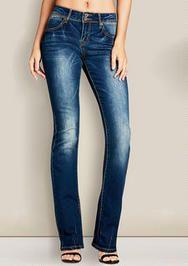 Mid Rise Slim Bootcut Jean