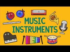 Musical Instruments Sounds For Kids ★ Part 1 ★ learn - school - preschool - kindergarten Kindergarten Music, Preschool Music, Music Activities, Music Lessons For Kids, Music For Kids, Kids Songs, Children Music, Old Musical Instruments, Instrument Sounds