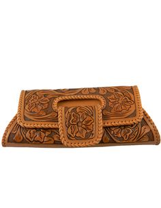 Heritage Boot » Natural Hand-Tooled Clutch
