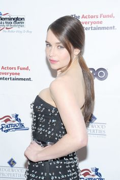 Emilia Clarke << Same hair color as me but my hair never looks like that in a ponytail.