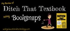 Ditch That Textbook is a FANTASTIC book for teachers. Check out my reflections from reading this amazing book using booksnaps!
