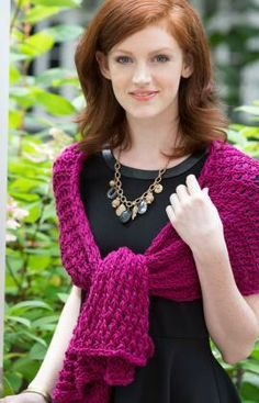 8-Hour Shawl Free Knitting Pattern from Red Heart Yarns
